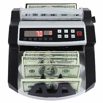 Cash Money Bill Counter Bank Currency Counting Machine UV & MG Counterfeit