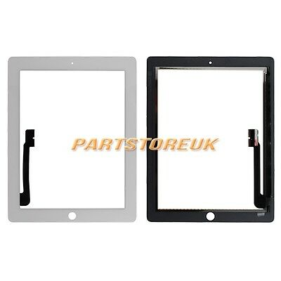 White Touch Screen Digitizer Replacement For Apple iPad 3 3rd Gen iPad 4 4th UK