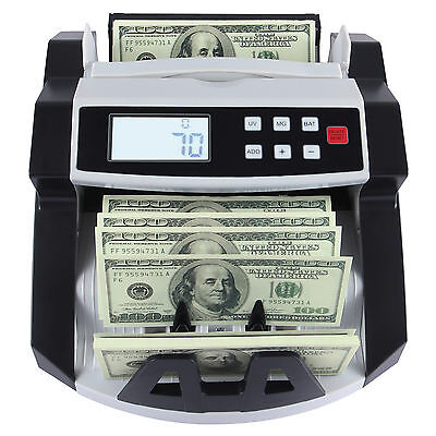 Bill Money Counting Machine Cash Counter Bank Counterfeit Detector UV & MG