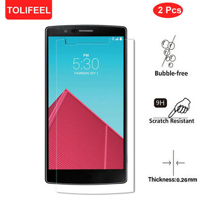 2-PACK Premium Real Screen Protector Tempered Glass Protective Film For LG G4
