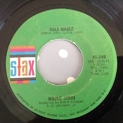 Mable John-Able Mable/don't Get Caught-Stax 249. Vg++