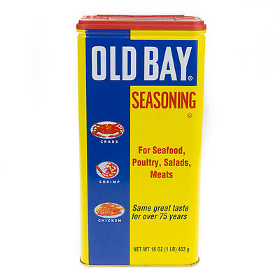 OLD BAY 1 Tin x 16oz McCORMICK OLD BAY SEASONING SEAFOOD, POULTRY,SALADS, MEATS