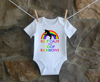 Unicorn Poop Babygrow Funny Bodysuit Baby Clothes Ideal Gift New Baby Boy Girl