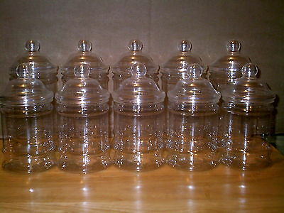12 X EMPTY PLASTIC VICTORIAN SWEET CANDY JAR (12 Large 500ml)