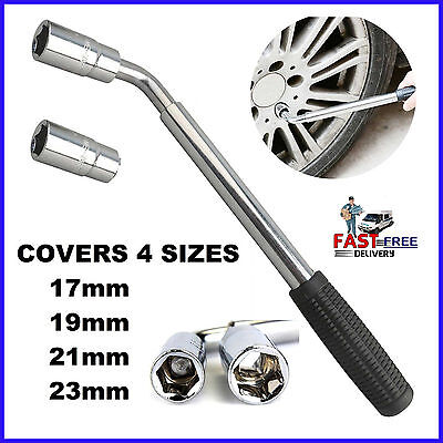 Repair Car Van Brace Extendable Wheel Socket Tyre Lug Nut Wrench 17 19 21 23mm