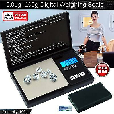 New Electronic Pocket Mini Digital Jewellery Weighing Scale 0.01g to 100 Gram UK