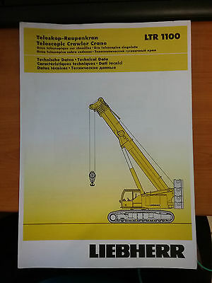 Liebherr Telescopic Crawler Crane LTR 1100 Load Information Manual