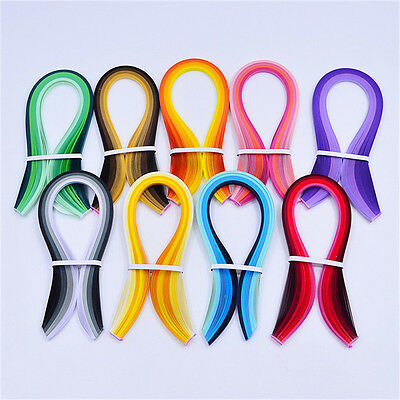 Paper Quilling Mixed Colors  39cmx3mm Width Available Papercraft DIY Craft