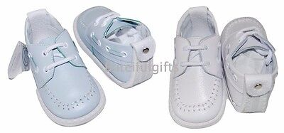 PEX Echo Boys Sky Blue or White Leather Shoe UK Infant 2-3-4 *One Supplied*
