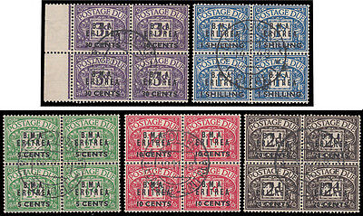 SGD27/ D30 1948 Postage Dues, Superb used in blocks. 319851