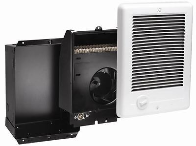 Recessed Mount In-Wall Fan Forced Electric Heater 1500Watt 120V Thermostat Grill