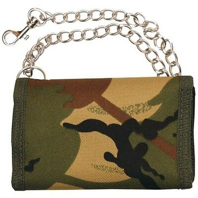 Kas Kids Camouflage Wallet Pocket Money Pouch Chain Mtp Dpm Camo Gift Army