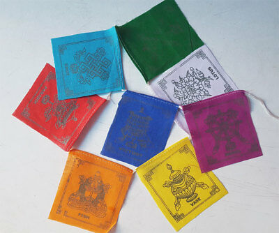 Eight Auspicious Symbols Tibetan Flags of Good Luck
