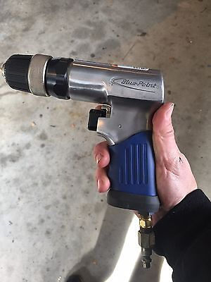 Snap-on Blue point pneumatic 3/8 air drill used twice! Model AT3000
