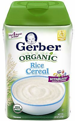 Gerber Baby Cereal - Organic Rice Cereal - 8 Ounce