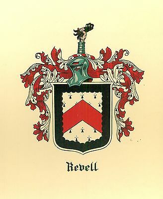 *Great Coat of Arms Revell Family Crest genealogy, would look great framed!