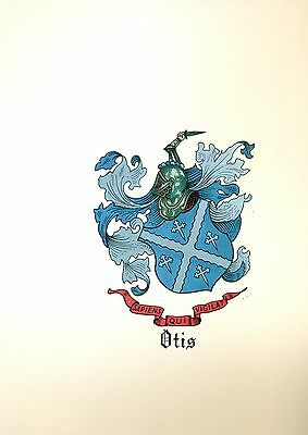 *Great Coat of Arms Otis Family Crest genealogy, would look great framed!