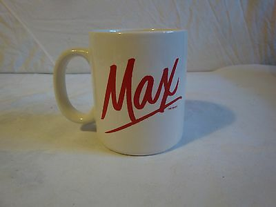 Maxwell House Coffee Cup Mug Glass Red Max White Cup