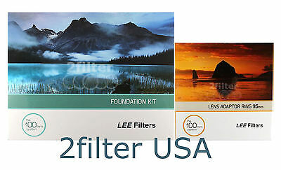 LEE Filters 95mm Standard Adapter Ring + Lee FIlter FK Holder 4x4 100mm Holder