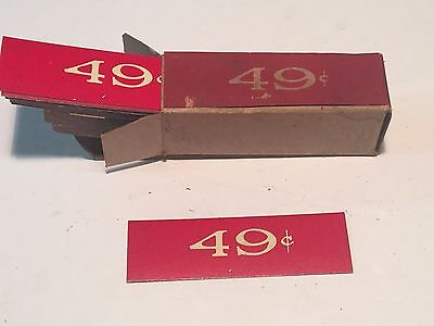Country Grocery Store Price Labels Tags Candy Dime Complete Box 49 cent Vintage