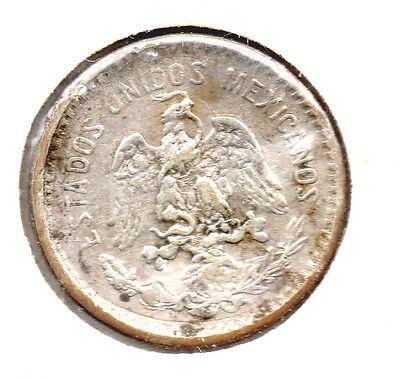 Mexico 10 cents silver vf/xf dime size and antique 1906