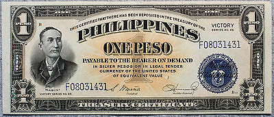 Philippines One Peso P-94 Victory 1944 AU