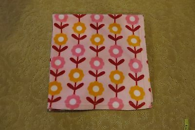Safety 1St Brand Very Soft Baby Girls Pink Flowers Blanket Size 30X30 Euc! Cute!