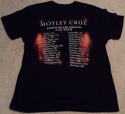 Motley Crue 2009 Saints Of Los Angeles Concert Tour Black T-Shirt Small