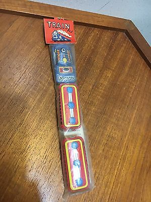 Old Vintage Express Tin Train Toy Made In Japan Flat STILL IN PACKAGE! NEW