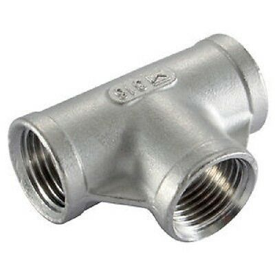 """Tee Equal BSP Pipe Fittings Stainless Steel 316 A4 Grade 150lb  1/8"""" To 4"""""""
