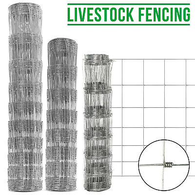 50/25M 1.2/1/0.8M Stock Fencing Sheep Pig Cattle Livestock Fence Galvanised Wire