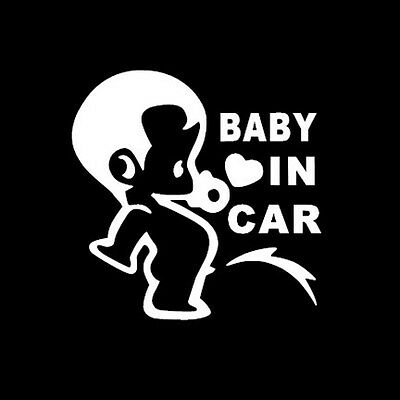 Baby on Board cute funny decal window sticker for Van Suv Car Custom Vinyl pee