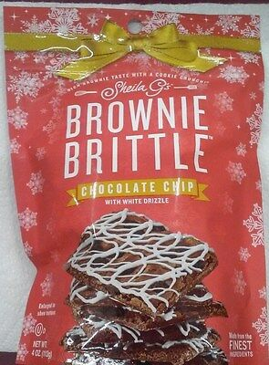 Sheila Gs Holiday Chocolate Chip White Snowflake Drizzle Brownie Brittle,