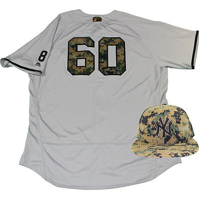 f75eb2758 Mike Harkey New York Yankees 2016 Memorial Day Game Used  60 Jersey   Hat  Set