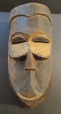 Antique African Wood Carved Ceremonial Mask / #5