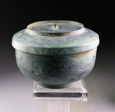 *SC* ANCIENT VIETNAMESE BRONZE VESSEL w. COVER, 800-1200 AD!