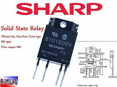 SHARP S101S05V Solid State Relay I/P 1.4  VDC O/P Load 3A 125 VAC new