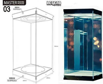Acryl Display Revolving Drehteller + LED 1:6 Actionfiguren z.B. Hot Toys Vitrine