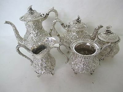 Stunning C. 1900 F. Bucher And Sons Baltimore/kirk Repousse Tea Set