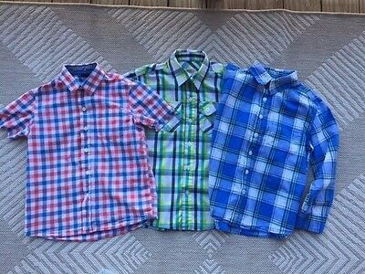 Lot of 3 Boys Plaid Spring/Summer Shirts Size 6/7 Small