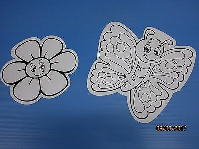 Craft coloring set kids flower butterfly fun and creation 20pcs