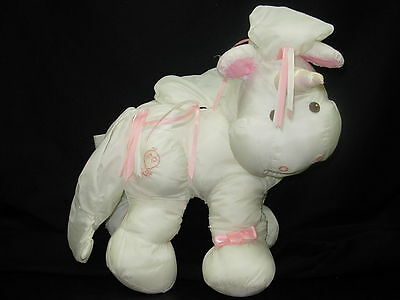 1987 Rare Vintage Fisher Price Enchanted Puffalump UNICORN HORSE Pony EUC