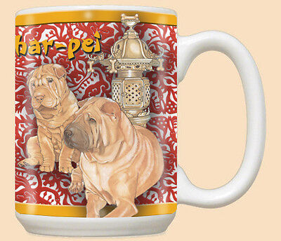 Shar-pei Ceramic Coffee Mug Tea Cup 15 oz