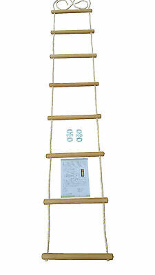 Rope ladder Climbing rope different lengths weatherproof Wood