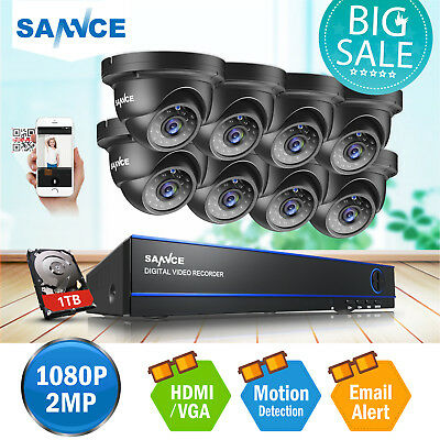 SANNCE 1x 720P Indoor Outdoor IR Night Vision Home CCTV Security Camera 1500TVL