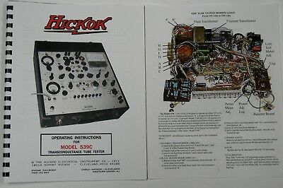 *USA* Hickok 539C ULTIMATE OPERATORS MANUAL W/COLOR PICTURES SCHEMATIC