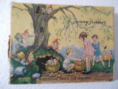 """Very Vintage FANNY FARMER - """"Wholesome Sweets For Children"""" Box (w/kids/elves)"""