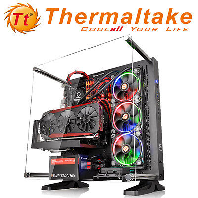 Thermaltake Core P3 White Black Wall Mount USB 3.0 Computer Desktop PC Case NEW