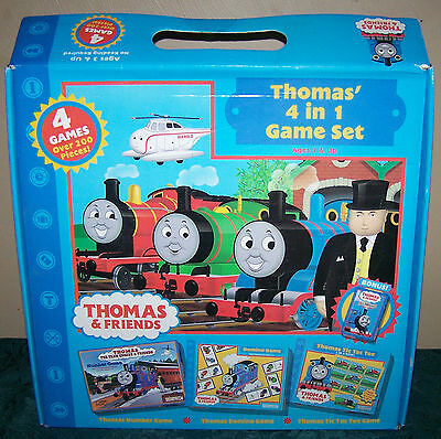 Thomas' 4 in 1 Game Set ~ Thomas & Friends/Briarpatch c.2005 #BP91005 ~ New!