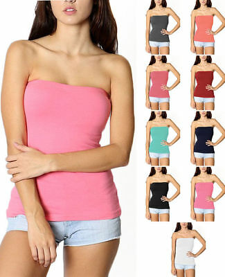 bed973c9ea LAYERING BASIC STRETCHY Cotton Blend Strapless Tube Top Shelf Bra S ...